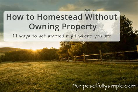 homestead living how to homestead without owning property