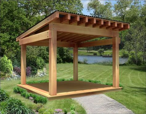 Our 12 X 12 Custom Heavy Timber Cedar Pergola Features 2 Wooden Pergola With Roof