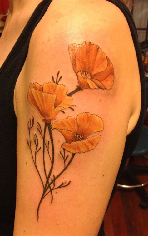 california poppy tattoo designs 17 best ideas about california poppy on