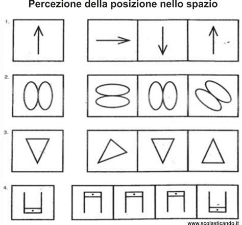 test percezione visiva guida apprendimento della letto scrittura la