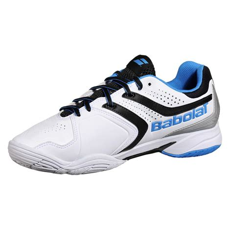babolat mens drive 3 all court tennis shoes white blue