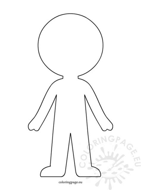 template of boy and coloring page