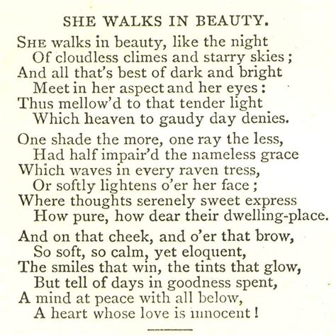 She Walks In Essay by Lord Byron She Walks In Lovely Words Beautiful Shops And The O Jays