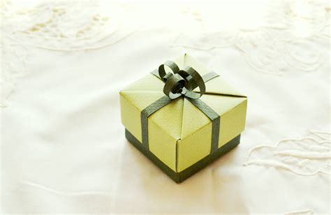 Origami Ring Box - items similar to small green origami gift box unique