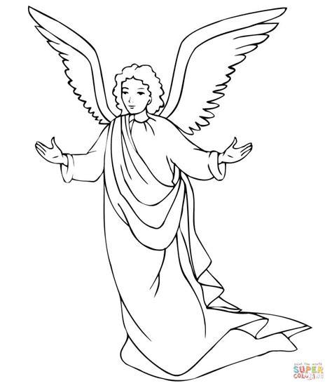 imagenes angel negro dibujo de 193 ngel de navidad para colorear dibujos para