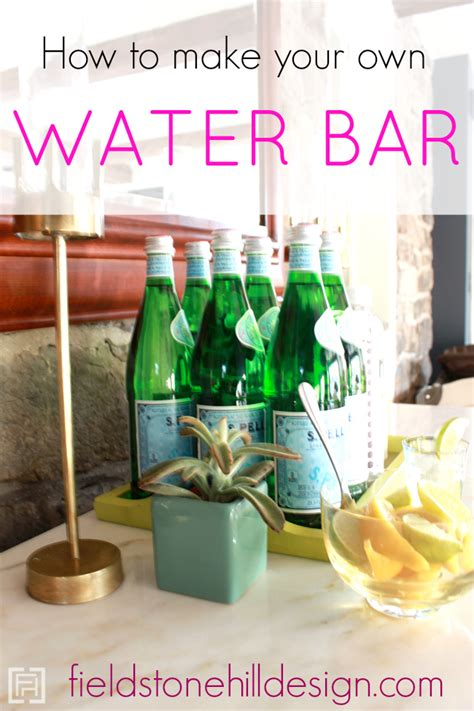 make your own water how to make your own water bar hospitality bar