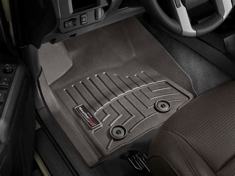 weathertech floor mats floorliner for toyota tacoma 2016 2017 1st row cocoa