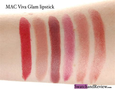 Lipstick Mac Viva Glam mac viva glam lipstick swatches swatch and review