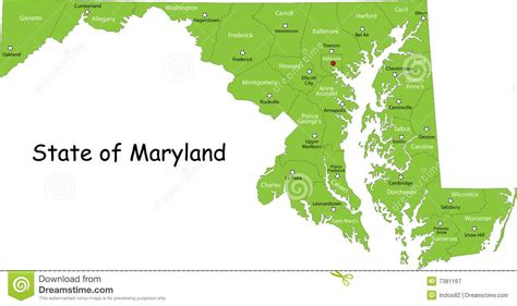map maryland usa maryland map usa royalty free stock photography image