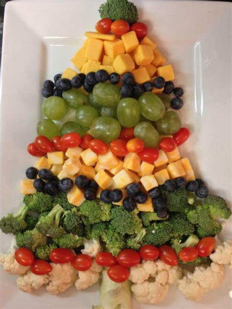 christmas tree veggie tray holiday pinterest
