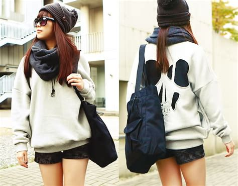 Panda Tshirt Cewek autumn ulzzang fashion