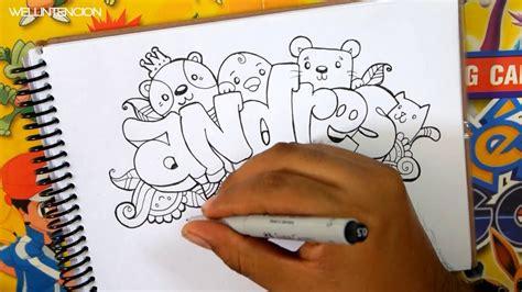 imagenes que digan andres como hacer tu nombre en graffiti doodle art andres