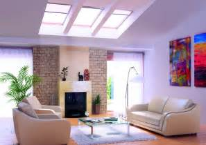 in the livingroom living rooms with skylights