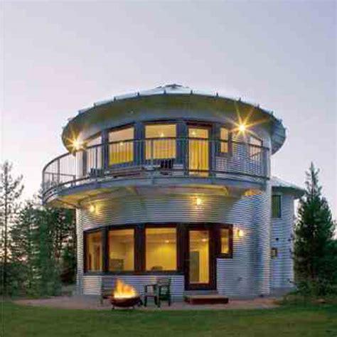 build  grain bin house mother earth news