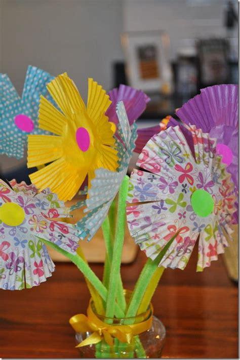 Paper Flower Bouquet Craft - blooming bouquet paper craft allfreekidscrafts