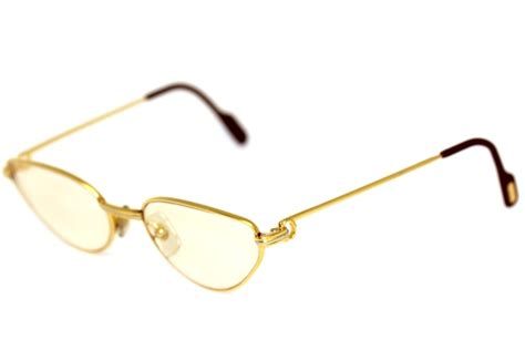 Cartier Haydy cartier brille gold silber glasses lunettes fassung ebay