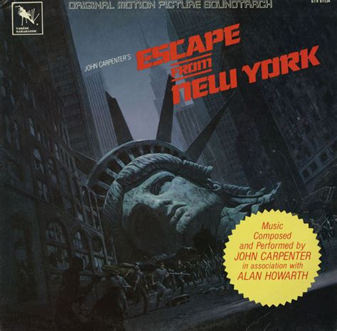 theme music escape from new york john carpenter in association with alan howarth escape
