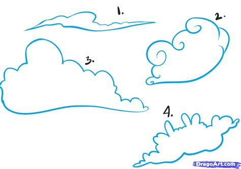 simple cloud drawing how to draw skies step by step other landmarks places