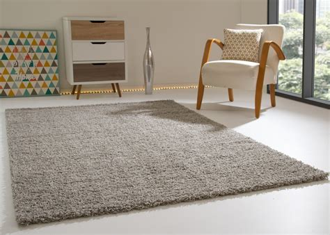 teppich silber shaggy rug happy soft pile small large new modern