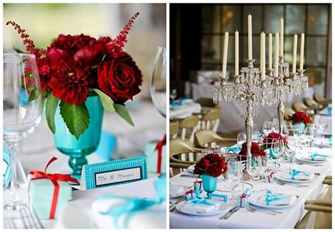 elegant green, turquoise, red wedding   Wedding Theme   By