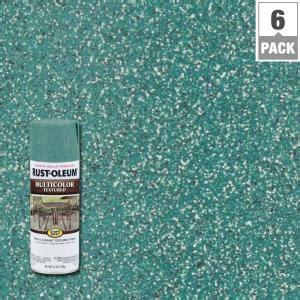 rust oleum stops rust  oz multicolor textured sea green