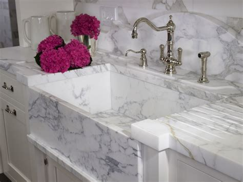 Marble Kitchen Sink White Marble Sink Transitional Kitchen St Charles