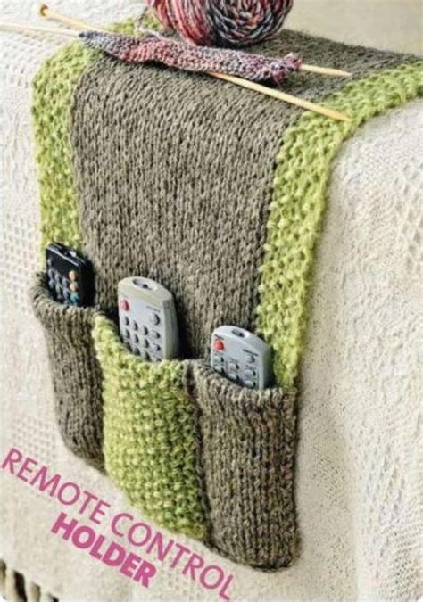 free crochet pattern remote holder storage knitting patterns in the loop knitting