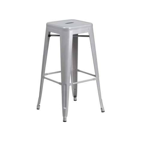 tolix metal bar stools sonic silver finish tolix bar stool tablebasedepot