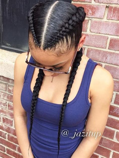Two Braids Black Hairstyles by 70 Best Black Braided Hairstyles That Turn Heads In 2018
