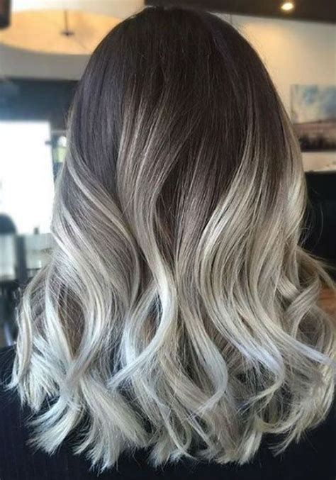 ashblond with silver highlites short hair the 25 best ash blonde balayage dark ideas on pinterest