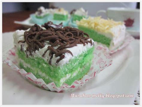 cara membuat bolu hongkong masakan melly bolu hongkong pandan topping keju dan coklat