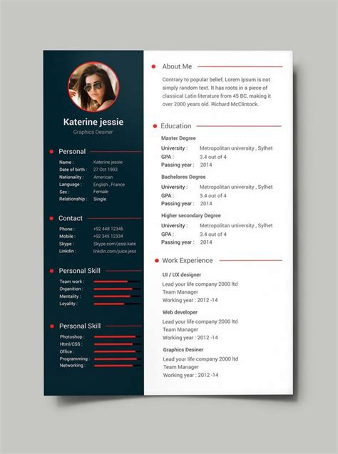 design cv templates download cv template free resume templates best 25 ideas on