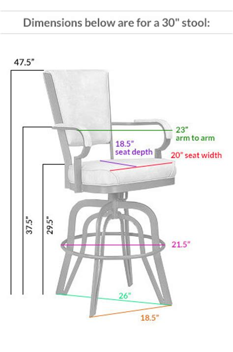 bar stools sizes lisa furniture rocker tilt swivel stool 2545