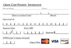 For credit card payments please print the credit card slip