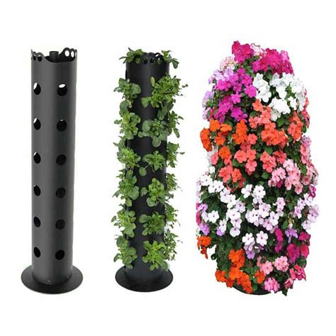 Diy Flower Tower Planter by Flower Tower Flower Power Great Vertical Planter