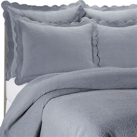 bed bath and beyond matelasse coverlet slate blue matelasse coventry slate quilt set 100