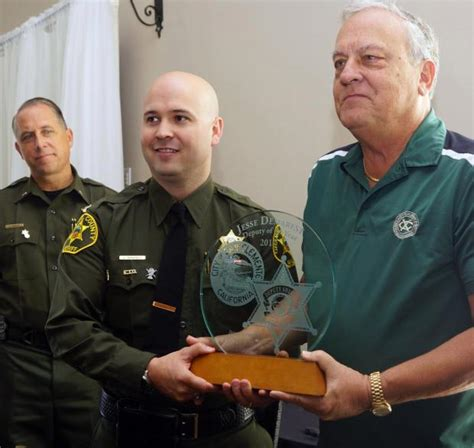 exchange of oranges in new year san clemente honors deputy and firefighter of the year