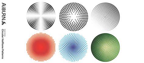 circular pattern ai circular halftone illustrator vector patterns design chair
