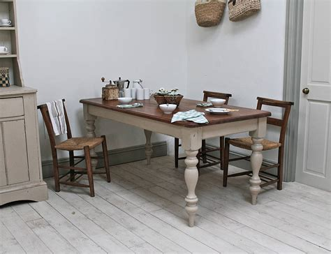 painted pine farmhouse kitchen table by distressed but not