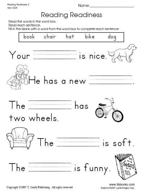 snapshot image of reading readiness worksheet 2 things