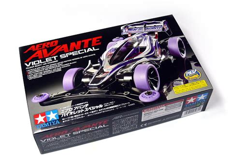 Aero Avante Violet Special tamiya model mini 4wd racing car 1 32 aero avante violet clear 95062