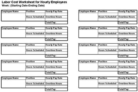 labor rate sheet template the world s catalog of ideas