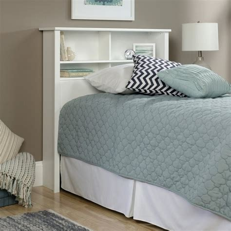 Soft Headboard Bookcase Headboard In Soft White 418536