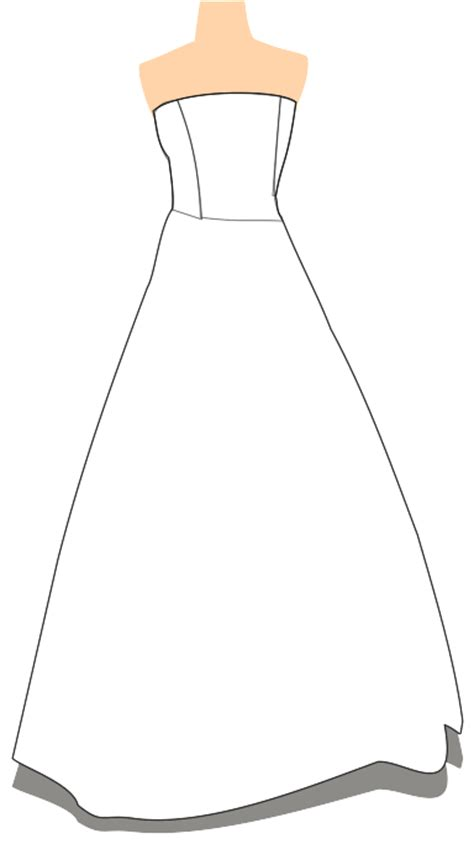Wedding Dress Outline by Wedding Dress Outline Clip Quotes