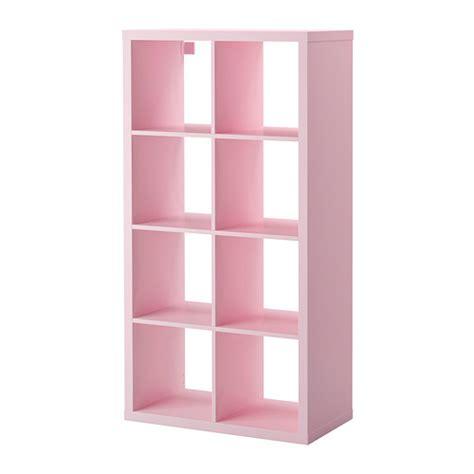 kallax shelving unit light pink ikea