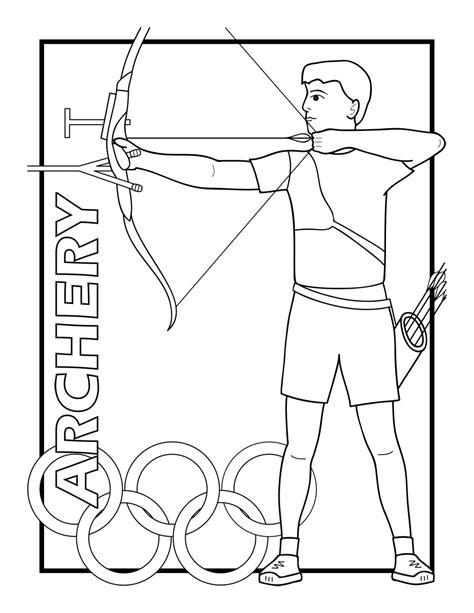 crossbow coloring page summer olympics 2012 clipart 24