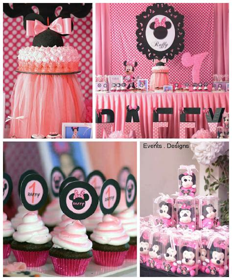 minnie mouse themed birthday decorations minnie mouse themed birthday via kara s ideas