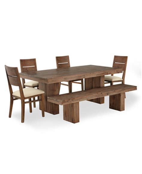 4 Set Dining Table Chagne Dining Room Furniture 6 Set Dining Table 4 Side Chairs And 1 Bench