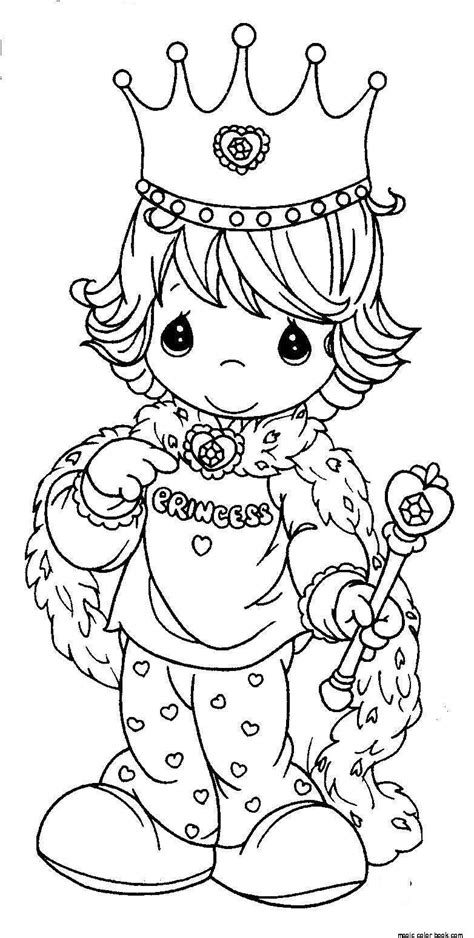 free coloring pages of prince crown