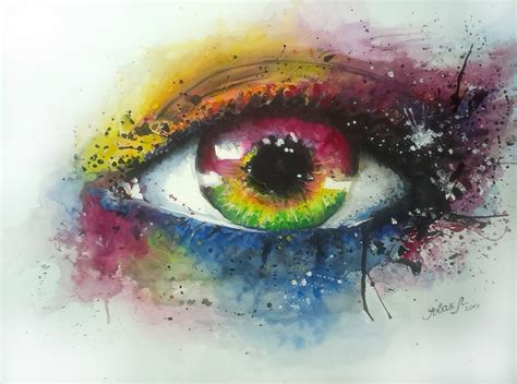 watercolor eye by jovan lilić